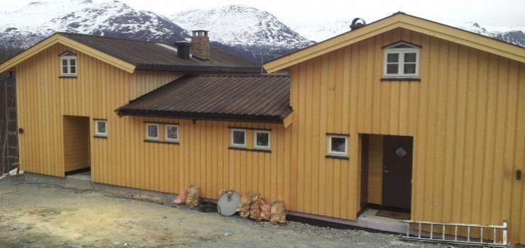 Vertikal dobbelhytte i Skarsnuten 2012. Fra oversiden.