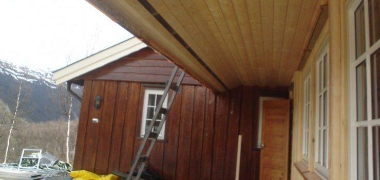 Tilbygg på hytte på Storeskar 2010.